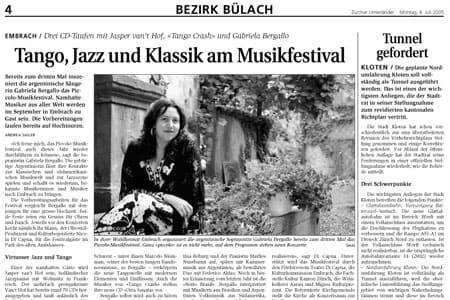 Tango, Jazz und Klassik am Musikfestival